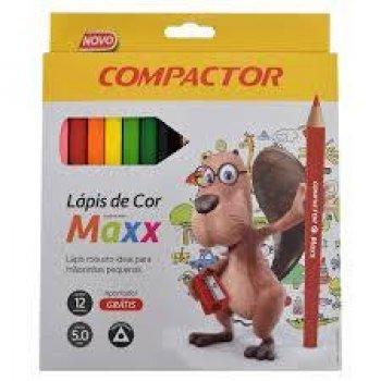 LAPIS DE COR 12 CORES JUMBO MAXX COMPACTOR