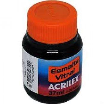 ESMALTE VITRAL ACRILEX 37 ML 520-PRETO