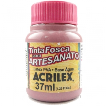 TINTA ACRILEX FOSCA P/ARTES. 37 ML 581-ROSA CICLAM