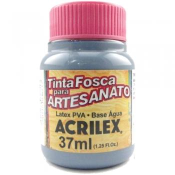 TINTA ACRILEX FOSCA P/ARTES. 37 ML 574 CINZA LUNAR