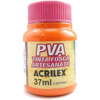 TINTA ACRILEX FOSCA P/ARTES. 37 ML 517 LARANJA