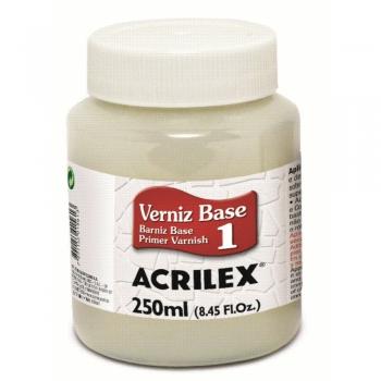 VERNIZ BASE P/ CRAQUELE ACRILEX 250 ML