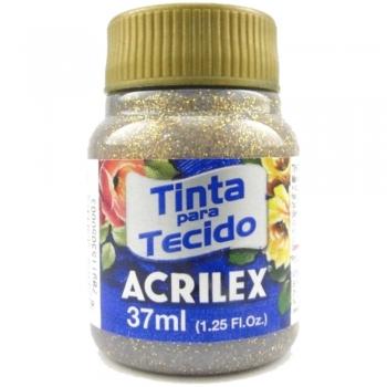 TINTA TECIDO GLITER 37 ML 201 OURO