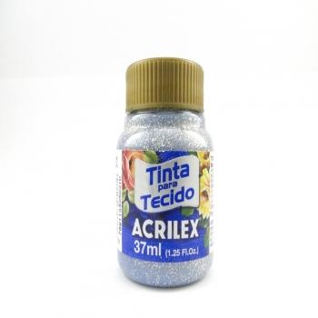 TINTA TECIDO GLITER 37 ML PRATA