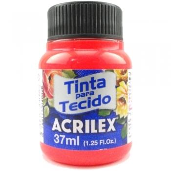 TINTA TECIDO FLUOR ACRILEX 37 ML 103 VERMELHO