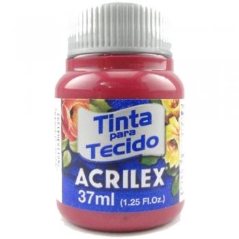 TINTA TECIDO FOSCA ACRILEX 37 ML 509-VER.CARMIM