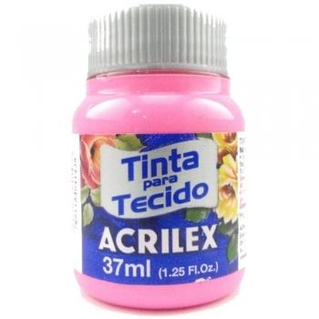 TINTA TECIDO FOSCA ACRILEX 37 ML 537 ROSA