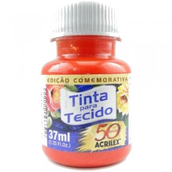 TINTA TECIDO FOSCA ACRILEX 37 ML 801TANGERINA