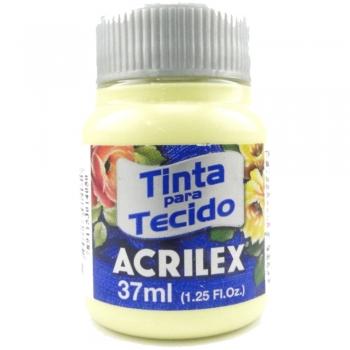 TINTA TECIDO FOSCA ACRILEX 37 ML 808 AMARELO BEBE