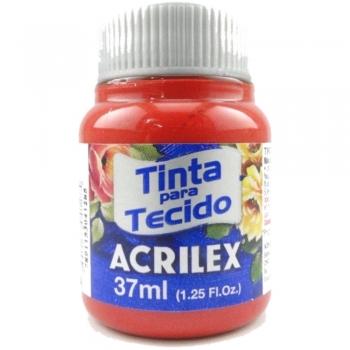 TINTA TECIDO FOSCA ACRILEX 37 ML 508 VERM SCARLATE