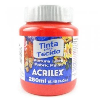 TINTA TECIDO FOSCA ACRILEX 250 ML 541 VERMELH VIVO