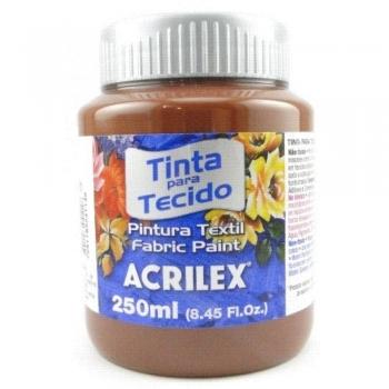 TINTA TECIDO FOSCA ACRILEX 250 ML 531 MARROM