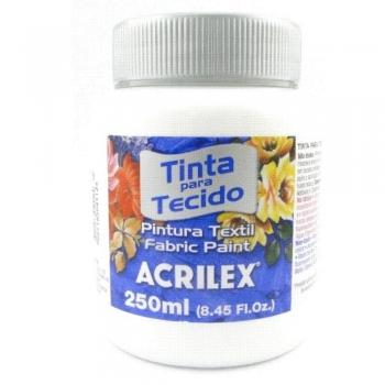 TINTA TECIDO FOSCA ACRILEX 250 ML 519 BRANCO