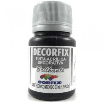 TINTA DECORFIX ACRIL. BRILH. 37 ML 321 PRETO