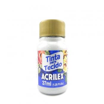 TINTA TECIDO METALICA ACRILEX 37 ML 533 PRATA