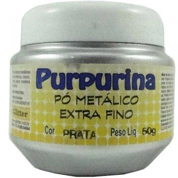 PURPURINA PRATA 50 GR GLITER