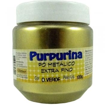 PURPURINA OURO VERDE POTE 100 GR. GLITER