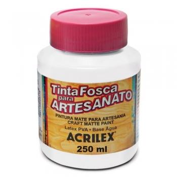 TINTA ACRILEX FOSCA P/ARTES.  250 ML 519-BRANCO