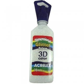 TINTA DIMENS.RELEVO 3D 35 ML GLITTER 209 CRISTAL