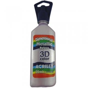 TINTA RELEVO 3D 35 ML METALICA 828  ROSA ANTIGO