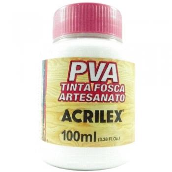 TINTA ACRILEX FOSCA P/ARTES.100 ML 519 BRANCO