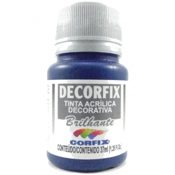TINTA DECORFIX ACRIL. BRILH. 37 ML 324-AZ TURQUESA