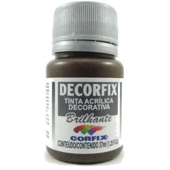 TINTA DECORFIX ACRIL. BRILH. 37 ML 319 MARROM