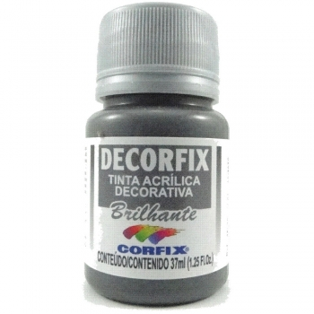 TINTA DECORFIX  ACRIL. BRILH.37 ML 320 CINZA