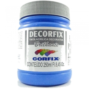 TINTA DECORFIX  ACR. BRILH. 250 ML 323-AZUL