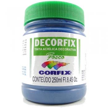 TINTA DECORFIX FOSCA 250 ML 382 AZUL PETROLEO