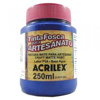 TINTA ACRILEX FOSCA P/ARTES250 ML 501-AZ.TURQUESA