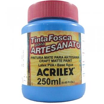 TINTA ACRILEX FOSCA P/ARTES. 250 ML 503 AZ CELESTE