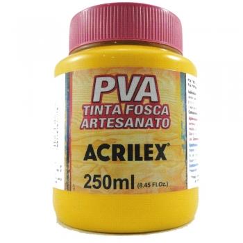 TINTA ACRILEX FOSCA P/ARTES. 250 ML 505 AM.OURO