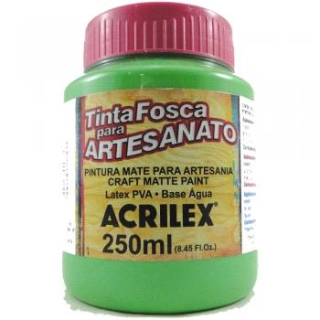 TINTA ACRILEX FOSCA P/ARTES. 250 ML 510 VD FOLHA