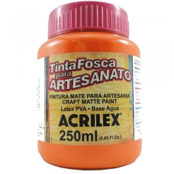 TINTA ACRILEX FOSCA P/ARTES. 250 ML 517 LARANJA