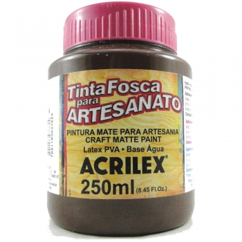 TINTA ACRILEX FOSCA P/ARTES. 250 ML 814 CHOCOLATE