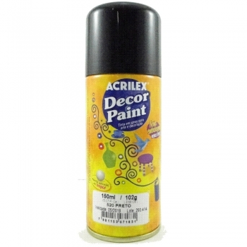 DECOR PAINT 520 PRETO 150 ML ACRILEX