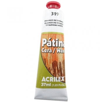 PATINA CERA ACRILEX 37 ML 319 BRANCO