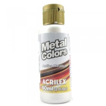 TINTA ACRILICA METAL COLORS 60 ML 533 PRATA