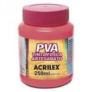 TINTA ACRILEX FOSCA P/ ARTES. 250 ML 567 ROSA CHA