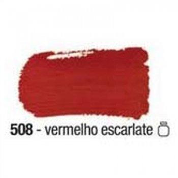 TINTA ACRILEX FOSCA P/ ARTES. 250 ML 508 VERM ESCA
